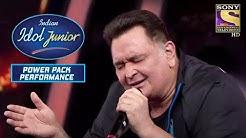 Mai Shayar Toh Nahin Rishi Kapoor Singing Indian Idol Junior Power Packed Performance
