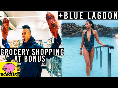 Day 1: Grocery Shopping at BONUS! + BLUE LAGOON ICELAND!