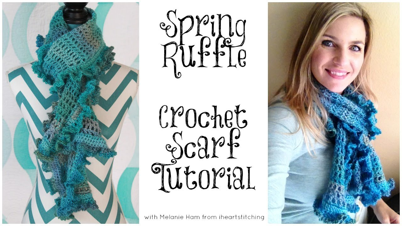 Ruffle Scarf Crochet Tutorial: Advanced Beginner - YouTube