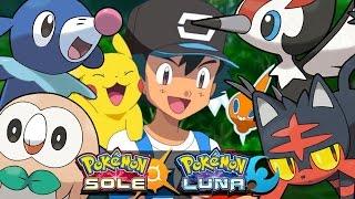 la squadra di ash in pokemon sole e luna