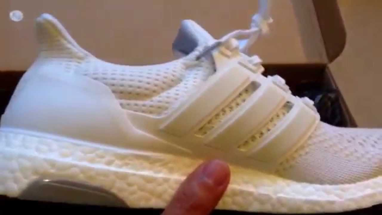 f52a9aedfa56b Unboxing Adidas Ultra Boost White   Black Soles Kanye West Shoes - YouTube