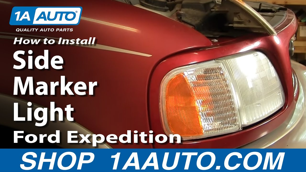 How to install replace side marker light ford f 150 expedition 97 03 1aauto com youtube