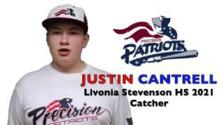 JUSTIN CANTRELL Baseball Skills Video 032017