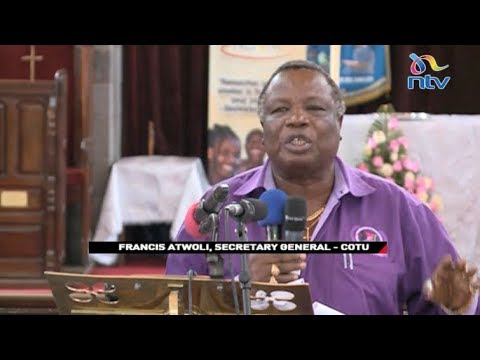 Francis Atwoli promises to put up fight against proposed labour laws