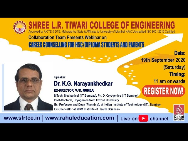 Career Counselling For HSC / Diploma Students and Parents