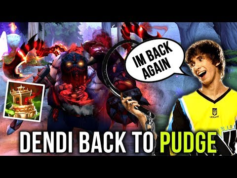 Dendi Still BEST Pudge?! TESTING Pudge ARCANA with Dendi Set - Dota 2