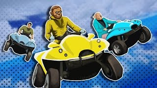 GTA 5 Funny Moments - Rocket Parachute Aquatic Car Races!