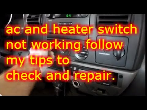 check ac  heater switch   ford  youtube
