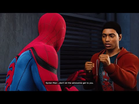 Spider-Man PS4 - Spiderman Teaches Miles Morales How To Fight