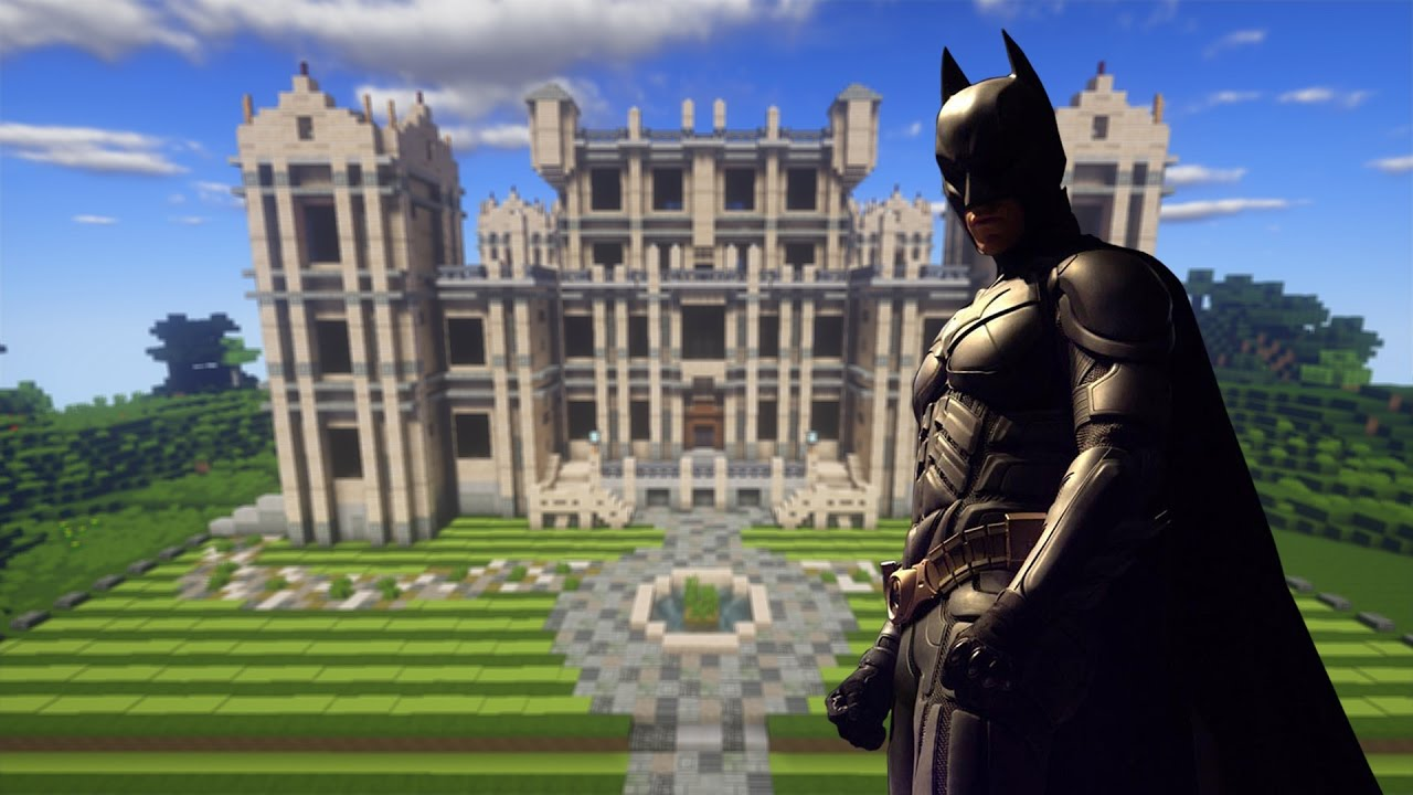 Minecraft Manso Do BATMAN Com BATCAVERNA Wayne Manor