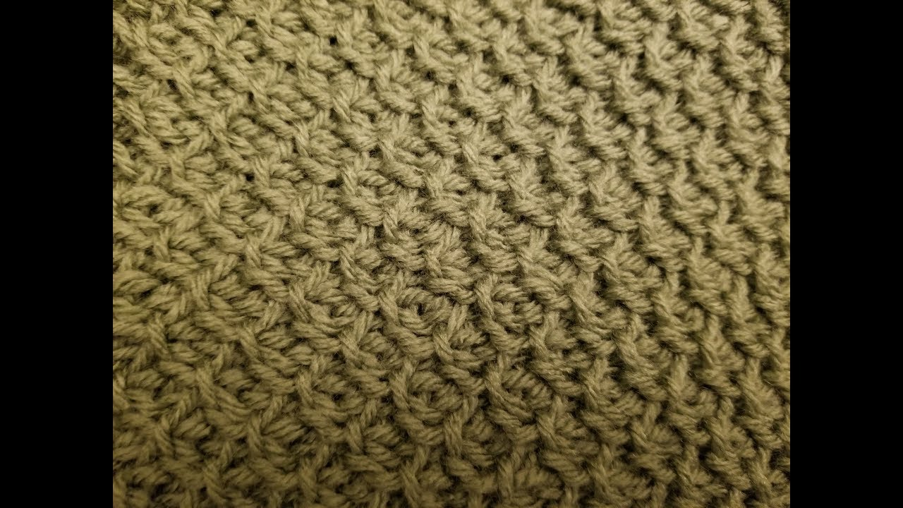 The Tunisian Honeycomb Stitch Crochet Tutorial Youtube