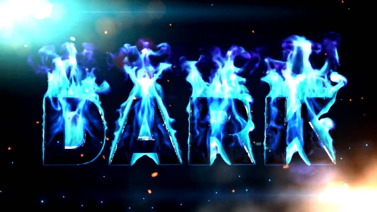 Text On Blue Fire After Effects Template Youtube