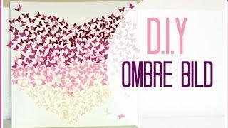 DIY Ombre Butterfly Bild 3D I Leinwand