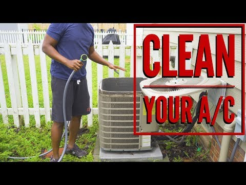 Clean Your Air Conditioner (Condenser Coils)