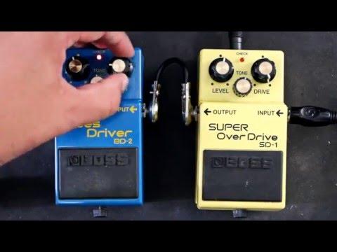 Pedal BOSS Blues Driver BD-2 VS BOSS Super Over Drive SD-1 pedal comparison