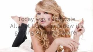 Today Was A Fairytale - Taylor Swift - Lyrics On Screen ( Valentine's Day Soundtrack )