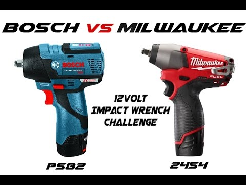 Bosch Vs Milwaukee 12volt 3 8 Impact Wrench Comparision