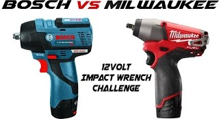 "Bosch vs Milwaukee 12volt 3/8"" impact wrench comparision"