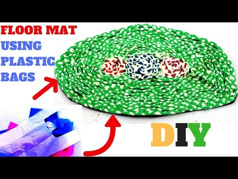 DIY | Floor Mats Using Waste Plastic Bags | Best Out of Waste | DIYCrafts India #101