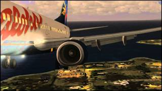 iFly 737-700 (Aloha Airlines) sunset landing at Kona, Hawaii (PHKO from FSDT) (FSX)
