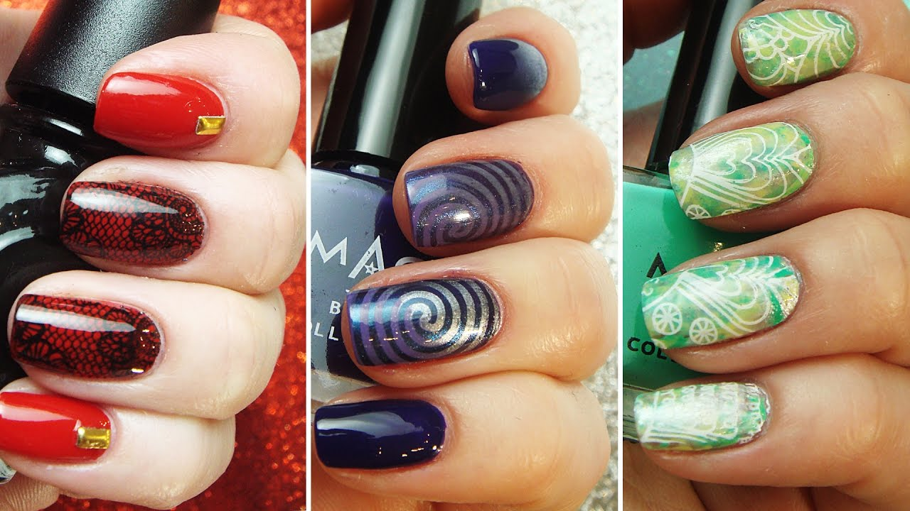 Stamping Nail Art Compilation | Easy Designs | Step by Step Tutorial ...