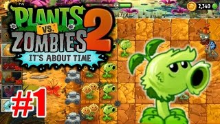 Plants vs Zombies 2: Its About Time -  Jurassic Marsh Walkthrough Part 1