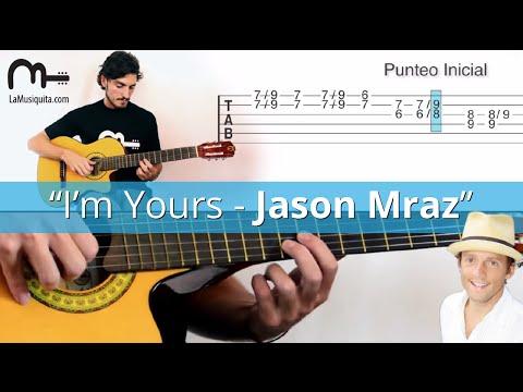 I am Yours Guitarra Acordes. Como tocar I am Yours - Jason Mraz en Guitarra