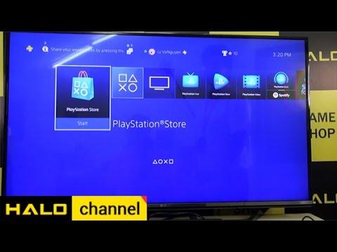 [Haloshop] Đăng nhập Playstation Store và trải nghiệm game với PS4 Pro