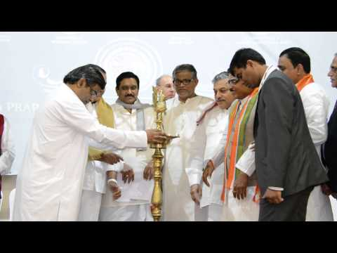 Sh. K E Krishnamurthy, Dy CM of AP launched 4th World Telugu Literature Conference(1) in London.