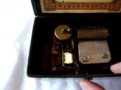 Antique child's music box