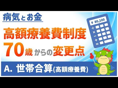 高額療養費制度の世帯合算②(70歳以上の計算例)