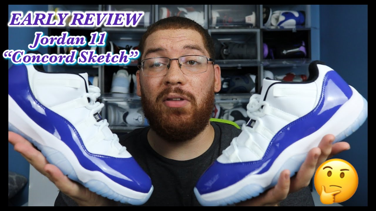 Early Review On Feet Jordan 11 Concord Sketch Low Low Key