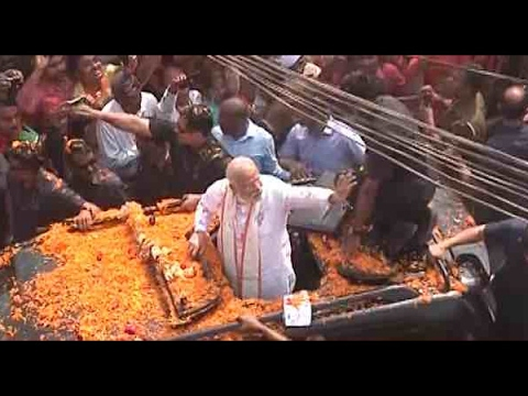 Mega show ends in Varanasi, PM Modi leaves for election rally in Jaunpur