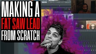 How to make a Fat Saw Lead in Massive - Martin Garrix style - Ali Nadem - FL Studio 12 Tutorial