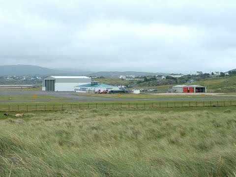 Flybe Saab 340 G-LGNK Taxi and Takeoff From Donegal Airport