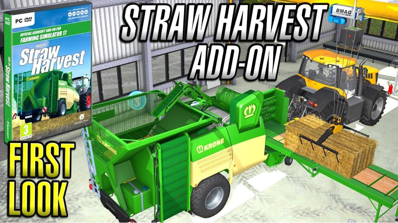 STRAW HARVEST ADD-ON | Farming Simulator 2017 | First Look