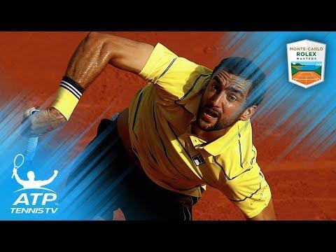 Kei Nishikori vs Marin Cilic Best Shots & Winning Moment | Monte-Carlo 2018