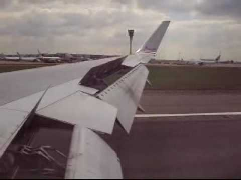 American Airlines Boeing 767-323(ER) lands at London Heathrow Airport (AA80/N382AN)