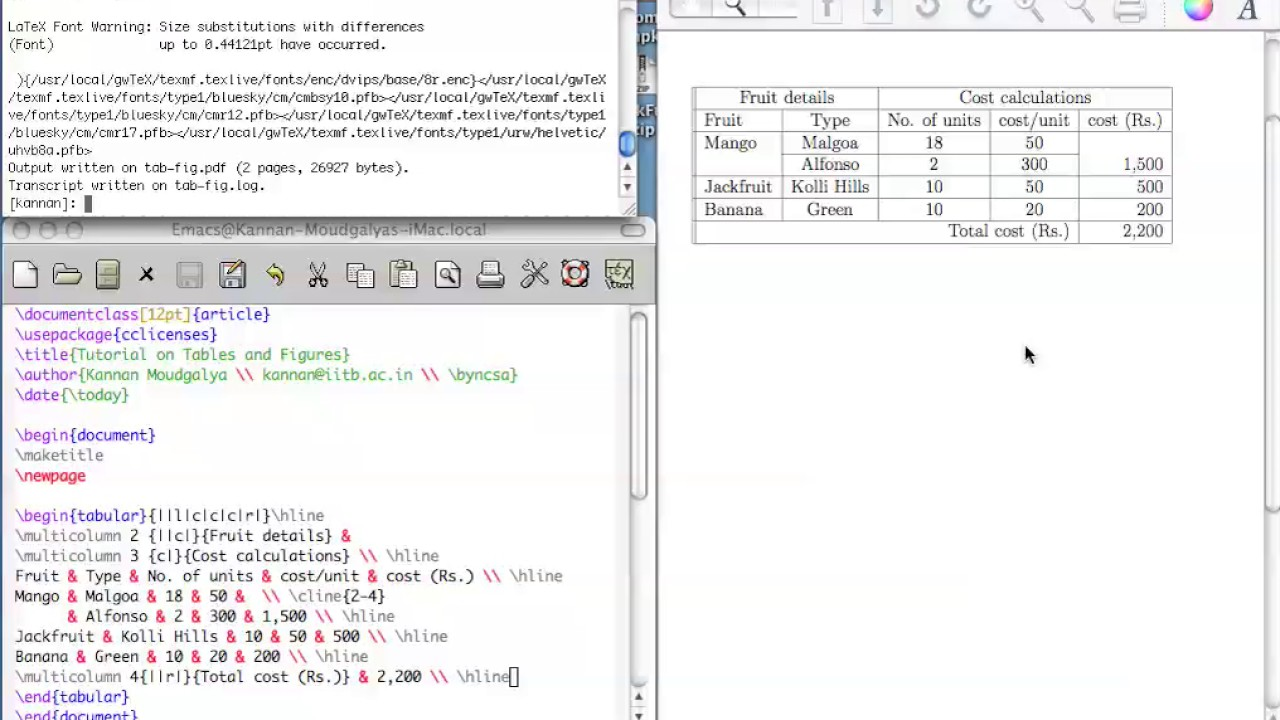 Tables and figures in latex youtube tables and figures in latex ccuart Gallery