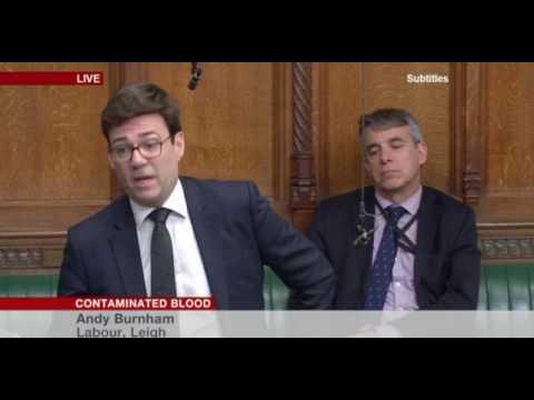 Andy Burnham speech on contaminated blood