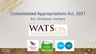 Consolidated Appropriations Act, 2021 for Childcare Providers