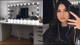 organizing + cleaning my vanity | anaisllopez