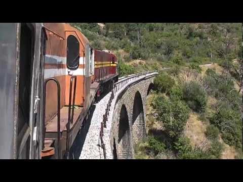 Greece:Railfan/Special train arriving at Xranoi village on the Tripoli-Argos scenic line...