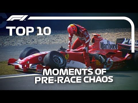 Top 10 Moments of Pre-Race Chaos