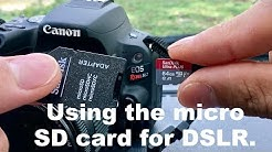Can I use a Micro SD card for my DSLR? (Canon SL2 Camera)
