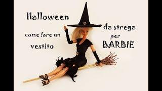 Halloween: come fare un vestito da strega  per BARBIE