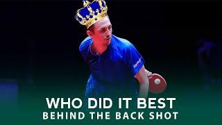 Тут нам недавно одного заспинника рекламировали. Вот прекрасная подборка от ITTF