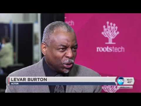 Actor LeVar Burton gifted his family history while speaking at RootsTech conference