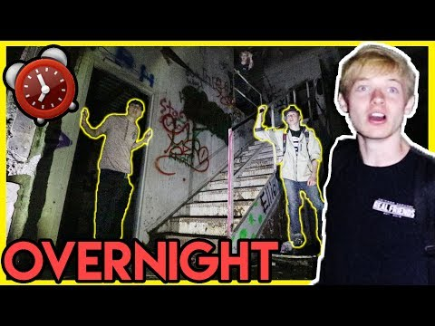 Thumbnail: OVERNIGHT AT ABANDONED WAREHOUSE (scary) | 24 Hour Challenge
