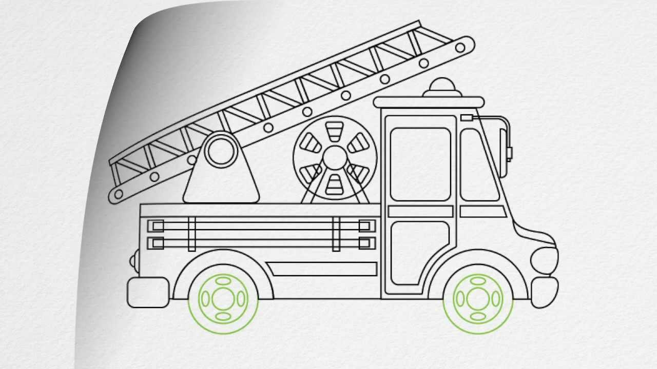 how to draw a fire truck step by step youtube